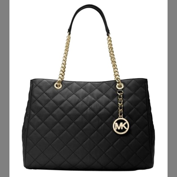 Michael Kors Bags   Sale Mk Black Quilted Handbag   Poshmark ca81cc8305